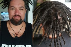 Dreadlocks installation half head Gold Coast before after